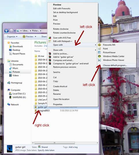 Windows 7 File Associations Change