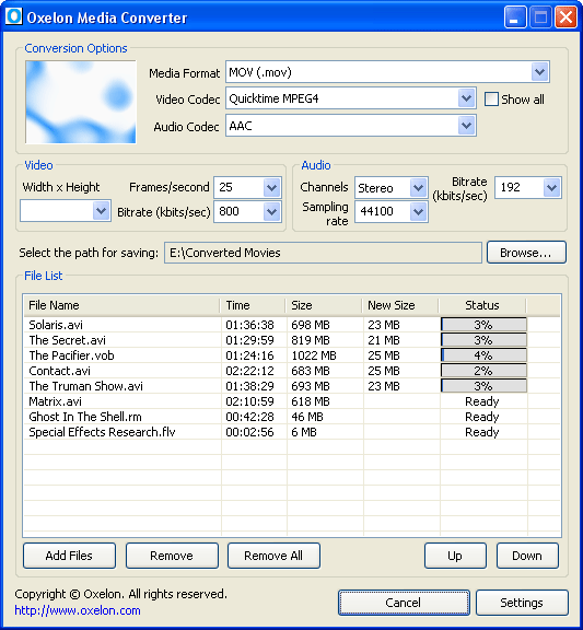 Oxelon Media Converter screenshot