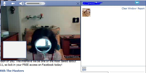 ChatVibes window in Facebook