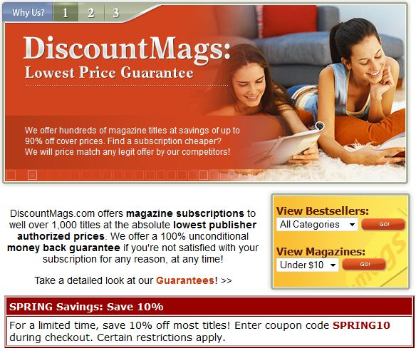 Discount magazine subscriptions